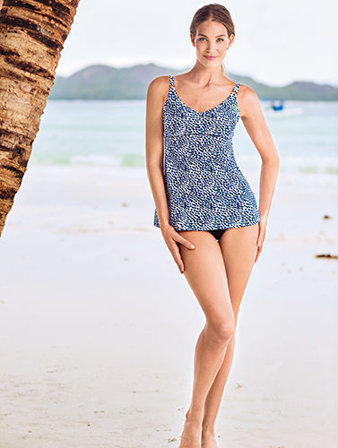 Marina Ostomy one - piece swimsuit with integrated inside pocket